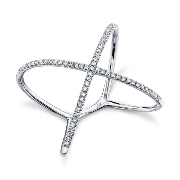 "0.18CT DIAMOND ""X"" RING"