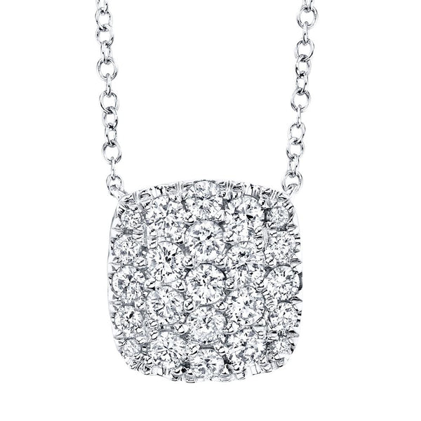 0.53CT DIAMOND PAVE NECKLACE