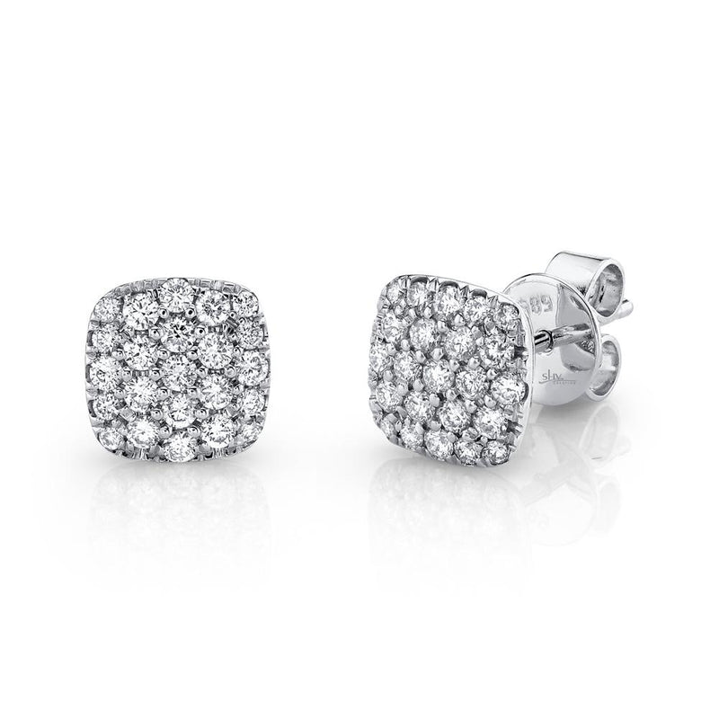 0.50CT DIAMOND PAVE STUD EARRING