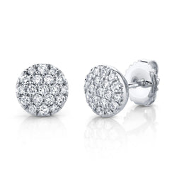 0.48CT DIAMOND PAVE CIRCLE STUD EARRING