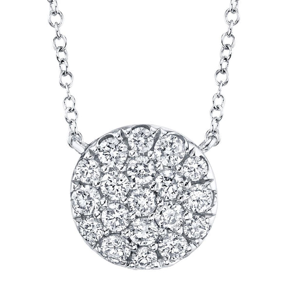 0.43CT DIAMOND PAVE CIRCLE NECKLACE
