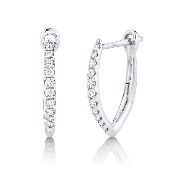 0.15CT DIAMOND HOOP EARRING