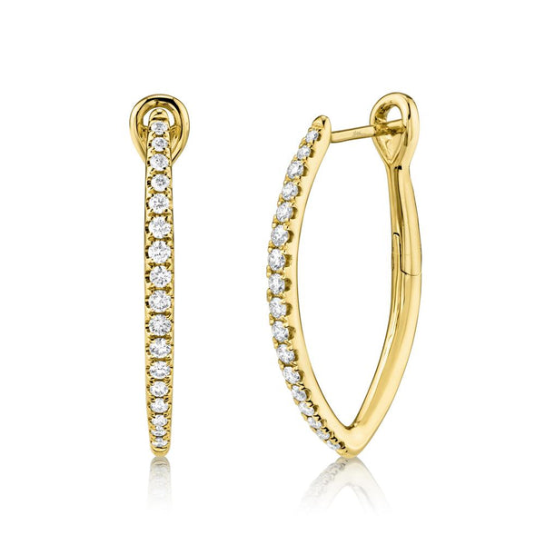 0.35CT DIAMOND HOOP EARRING