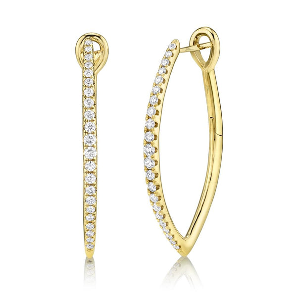 0.75CT DIAMOND HOOP EARRING
