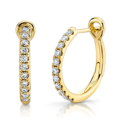 0.26CT DIAMOND HOOP EARRING