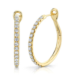 0.74CT DIAMOND HOOP EARRING