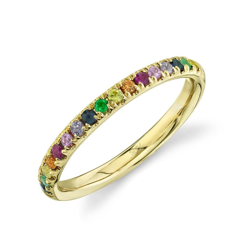 0.31CT MULTI-COLOR STONE BAND