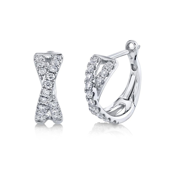 0.40CT DIAMOND HUGGIE EARRING