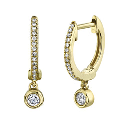 0.14CT DIAMOND HUGGIE EARRING