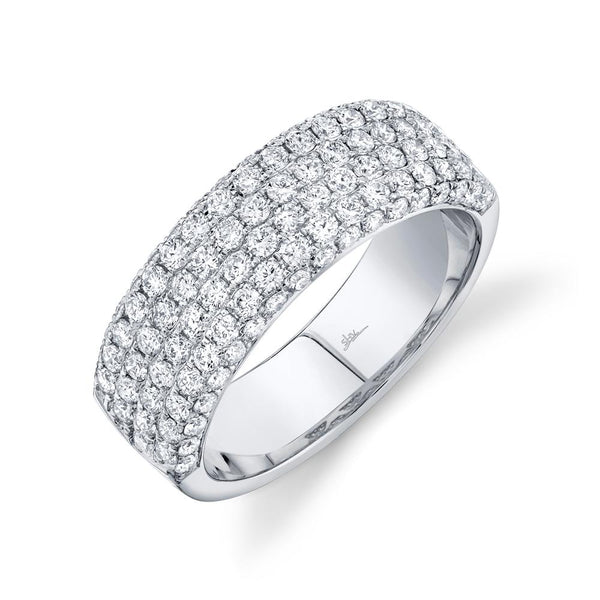 Carrington 1.32 Ct. Diamond Pave Band - 14K White Gold