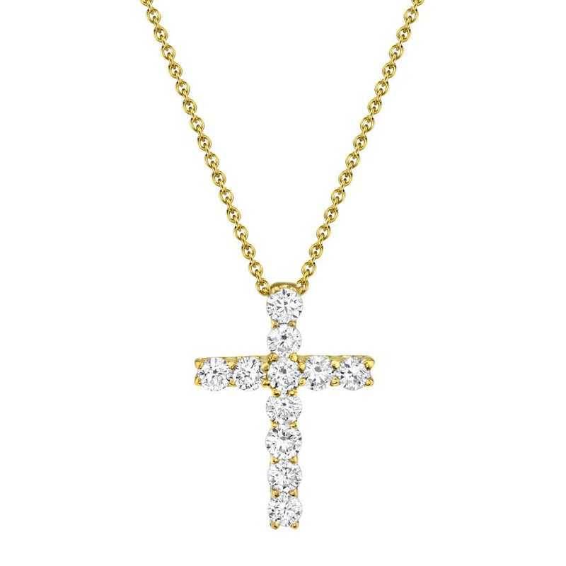 0.32CT DIAMOND CROSS NECKLACE