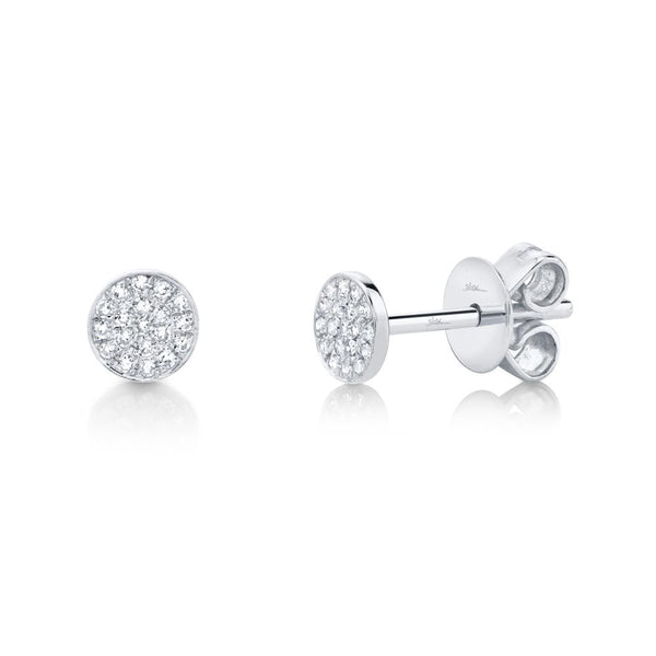 0.07CT DIAMOND PAVE STUD EARRING