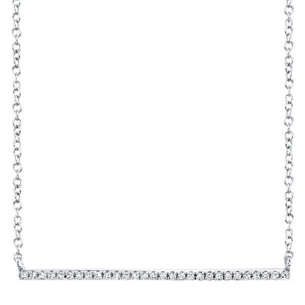 0.08CT DIAMOND BAR NECKLACE
