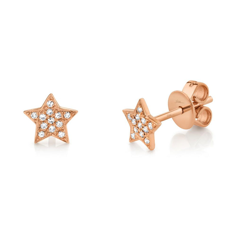 0.07CT DIAMOND STAR STUD EARRING