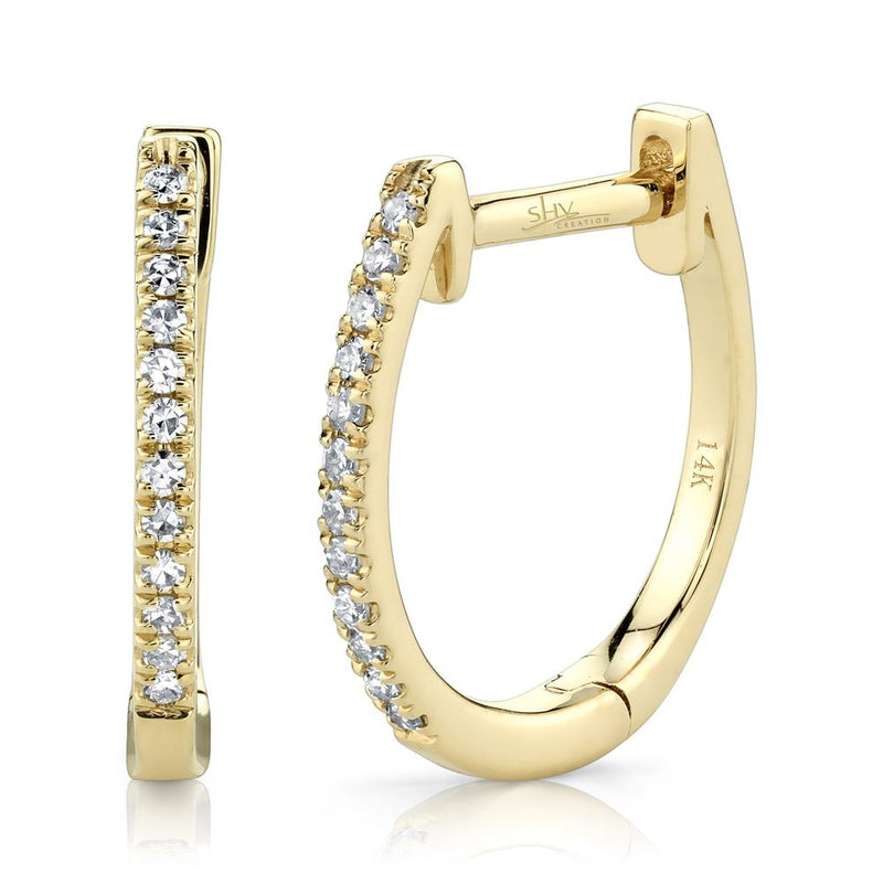 0.08CT DIAMOND HUGGIE EARRING