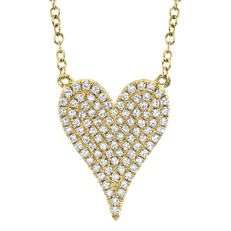 0.21CT DIAMOND PAVE HEART NECKLACE
