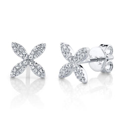 0.16CT DIAMOND FLOWER STUD EARRING