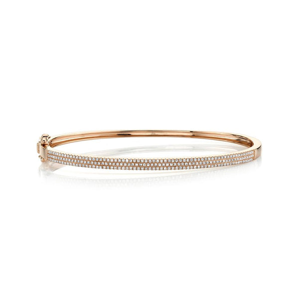 0.52CT DIAMOND PAVE BANGLE