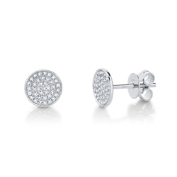 Emmie 0.17Ct. Diamond Pave Circle Stud Earring