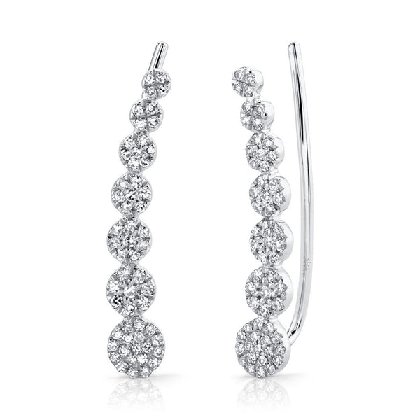 0.25CT DIAMOND EAR CRAWLER EARRING