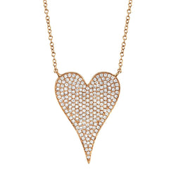 0.43CT DIAMOND HEART NECKLACE