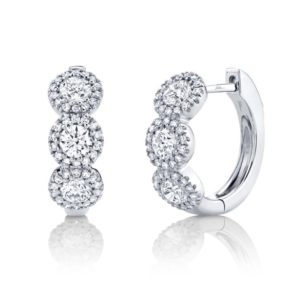 1.10CT DIAMOND HUGGIE EARRING