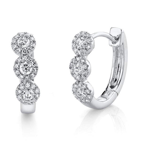 0.37CT DIAMOND HUGGIE EARRING