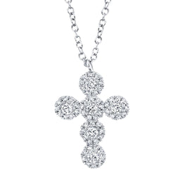0.25CT DIAMOND CROSS NECKLACE