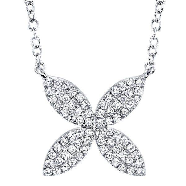 0.20CT DIAMOND FLOWER NECKLACE