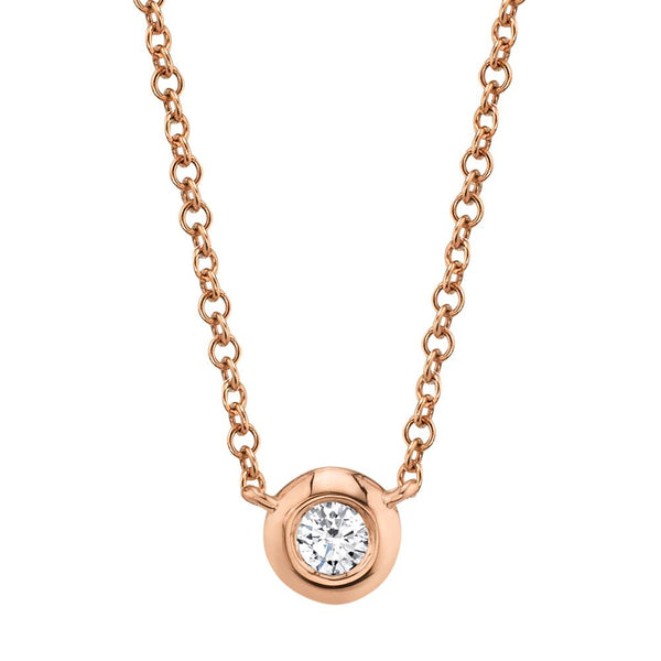 0.05CT DIAMOND BEZEL NECKLACE