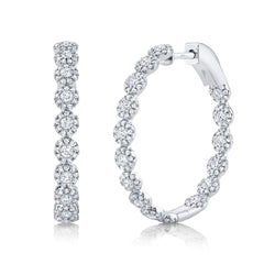 1.58CT DIAMOND HOOP EARRING