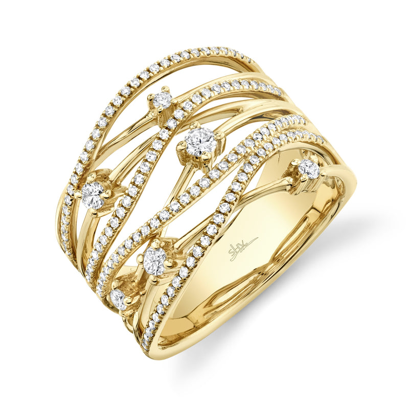0.49CT DIAMOND BRIDGE RING