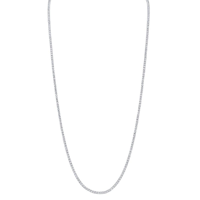 8.70CT DIAMOND TENNIS NECKLACE 36""