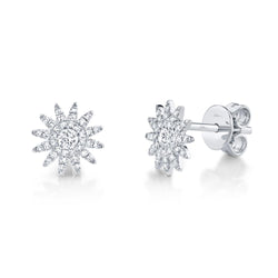 Aurora 0.24 Ct. Diamond Starburst Stud Earring
