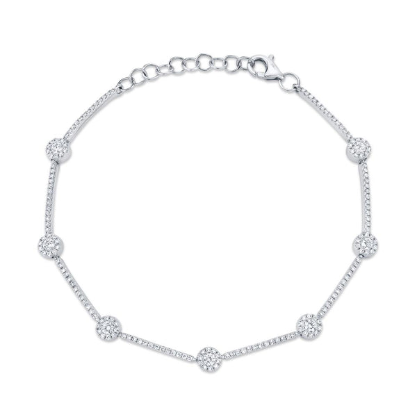 0.88CT DIAMOND BRACELET