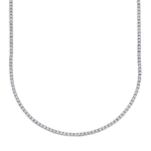 3.96CT DIAMOND TENNIS NECKLACE