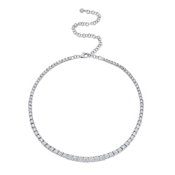 4.39CT DIAMOND TENNIS CHOKER NECKLACE