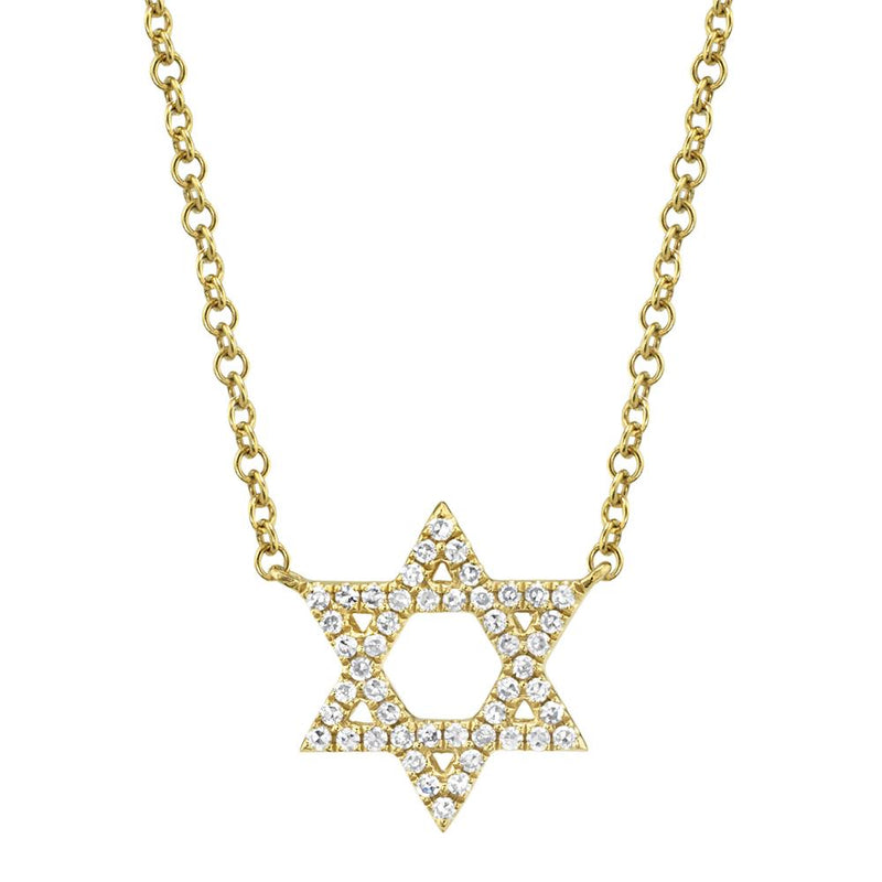 0.11CT DIAMOND STAR OF DAVID NECKLACE