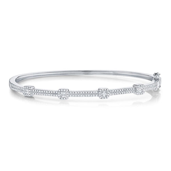 0.52CT DIAMOND BAGUETTE BANGLE