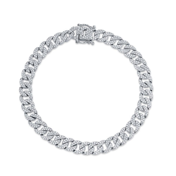 'Havana' 1.69CT DIAMOND PAVE CHAIN BRACELET - White Gold