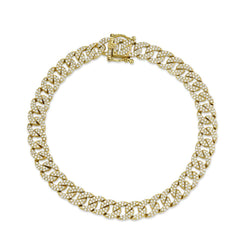'Havana' 1.69CT DIAMOND PAVE CHAIN BRACELET - Yellow Gold