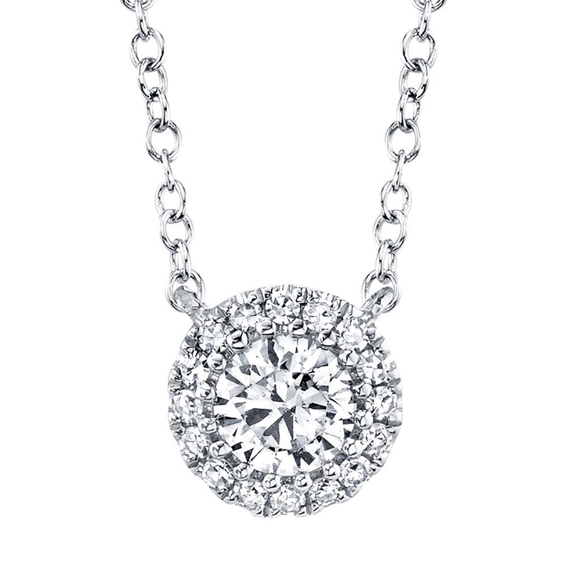 0.20CT-CTR(ROUND) 0.05CT-SIDE DIAMOND NECKLACE