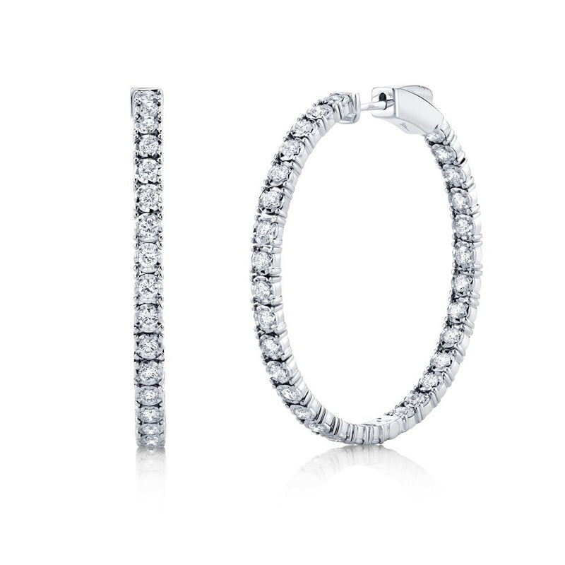 1.90CT DIAMOND HOOP EARRING
