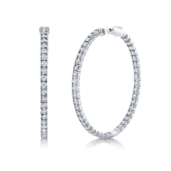 2.65CT DIAMOND HOOP EARRING
