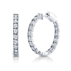 1.06CT DIAMOND HOOP EARRING