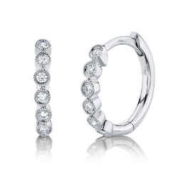 0.11CT DIAMOND HUGGIE EARRING