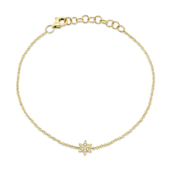 0.03CT DIAMOND STAR OF DAVID BRACELET