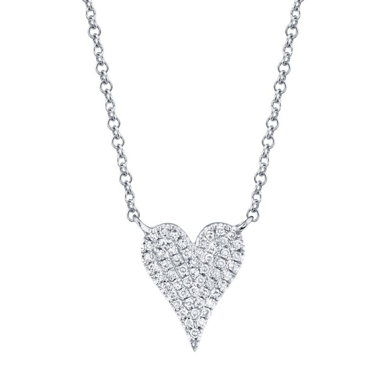 0.11CT DIAMOND PAVE HEART NECKLACE