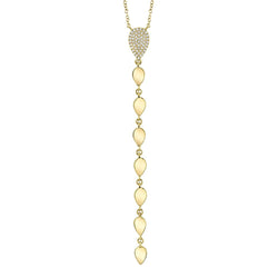 0.11CT DIAMOND LARIAT NECKLACE