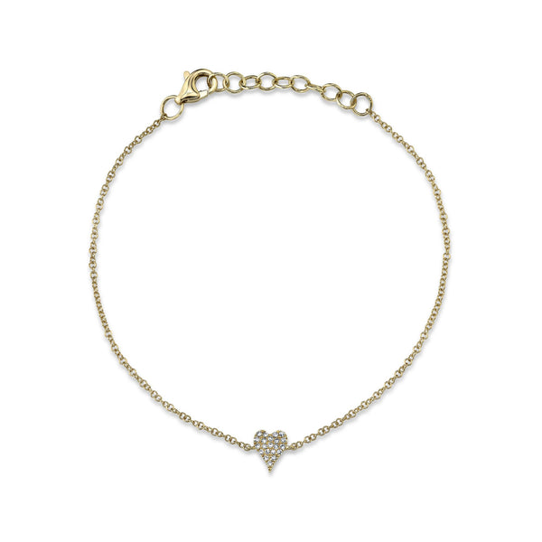 0.05CT DIAMOND PAVE HEART BRACELET